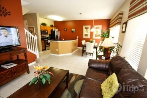 Living, dining and kitchen - 3193 Encantada - Kissimmee - rentals