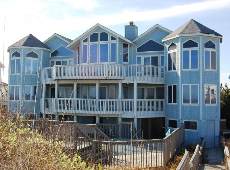 View of home from beach - Oceanfront:7 Bdrms;2 Pools;4 Whirlpools; Hot Tub - Corolla - rentals