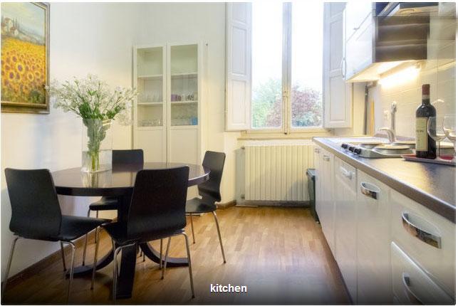 Bright spacious kitchen with parquet floor, new ceramic electric hob, washing machine etc - Volta apartment -2 bedrooms - Sansepolcro - rentals