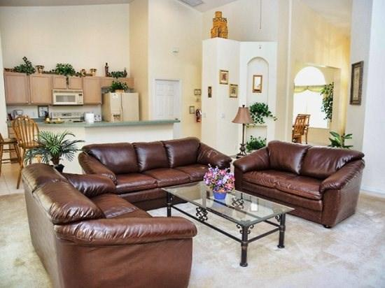 Living Area - HR5P228NHD 5 Bedroom Pool Home Stylishly Decorated - Orlando - rentals