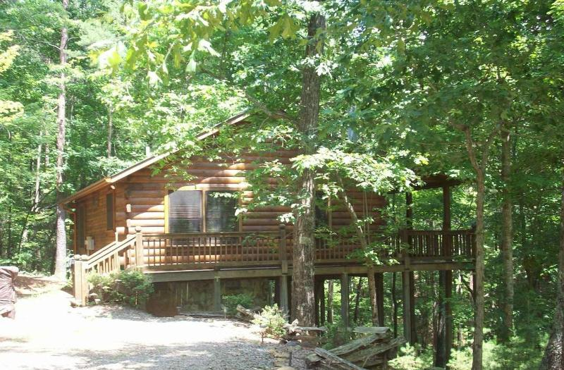 View From Driveway - Bear Tracks Log Cabin w/ Private Hot Tub!!! - Blue Ridge - rentals