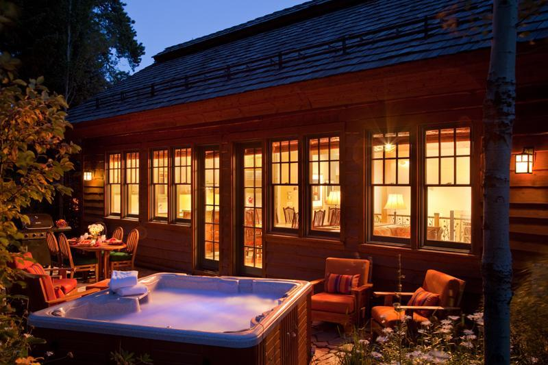 Outdoor Terrace with Hot Tub - Granite Ridge Homestead 03 - Teton Village - rentals