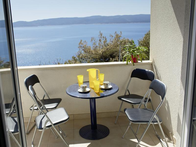 Balcony view - Apartments 1234 - Sea view - Dalmatian coast - Omis - rentals