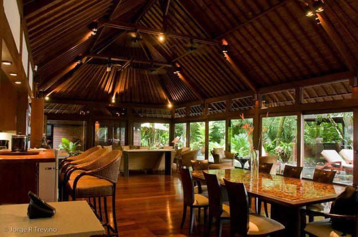 Inside the Main Living Pavilion - The Bali House on the Beach, best location by far! - Manuel Antonio National Park - rentals