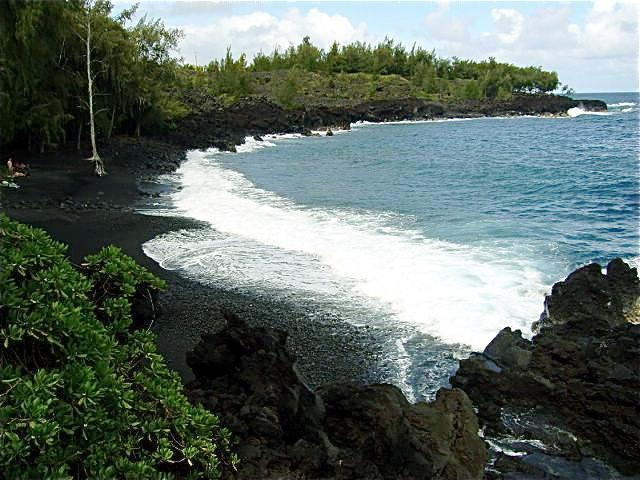 Beautiful black sand beach one mile south of Seaview. - Hawaii Volcanic Special Near Kehena Beach - Kalapana - rentals