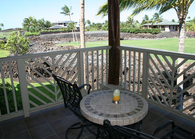 Upper Lanai view of Golf Course - Golf Villas at Mauna Lani Resort - Kohala Ranch - rentals