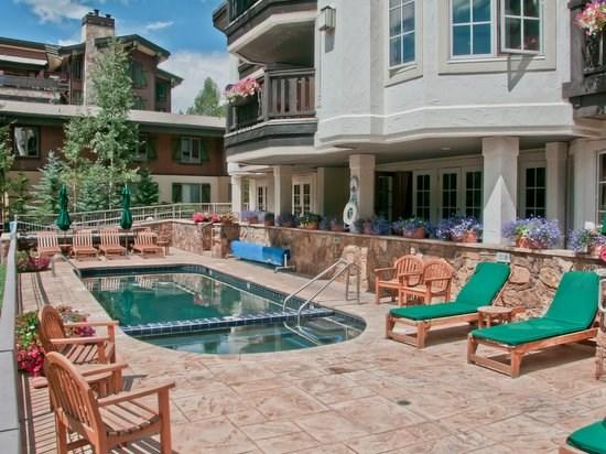 Heated pool and hot tub overlooking Gore Creek - Austria Haus Club: Platinum Penthouse - Vail - rentals