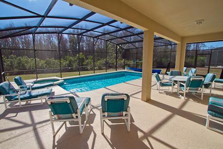Huge Private Southfacing Pool and Spa - Amazing 7 Bedroom, Family friendly and large private pool with spa - Kissimmee - rentals