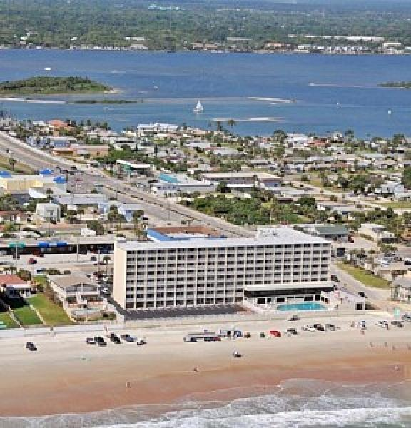 Aerial View of Pirate's Cove - Oceanfront Condo at Daytona Beach - Daytona Beach - rentals