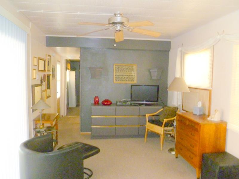 Living room - 1 BR mobile home, So. Palm Springs, Steps to Pool - Palm Springs - rentals
