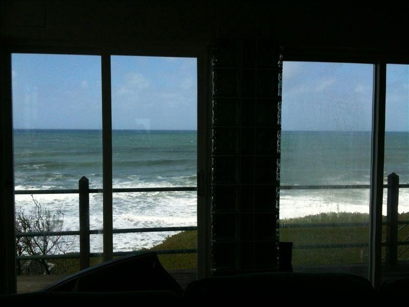 from the livingroom - Coastal Bluff over crashing surf-Designer 3 BR 2BA - Half Moon Bay - rentals