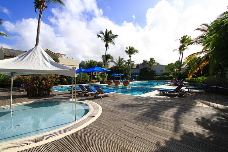 shaded kids' pool, plus large adult pool - Villa Valerie: pool, beach, aircon, sleeps 4. - Cap Estate, Gros Islet - rentals