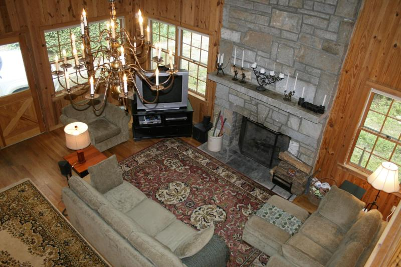 Living Room - Beautiful Lakefront Cabin in Highlands, NC - Highlands - rentals