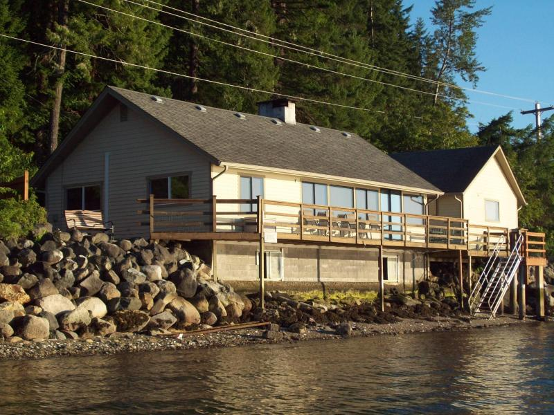 View of home from the water - Union City Beach House, Hood Canal Waterfront View - Union - rentals