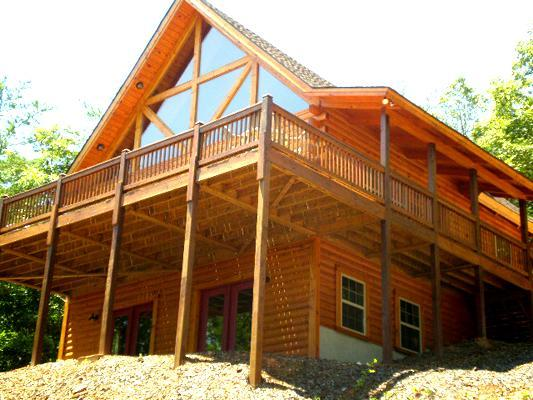 Cozy Log Cabin with Mountain Views/Plenty of Privacy - COYOTE MOON COZY LOG CABIN-BEAUTIFUL MTN VIEWS - Warne - rentals