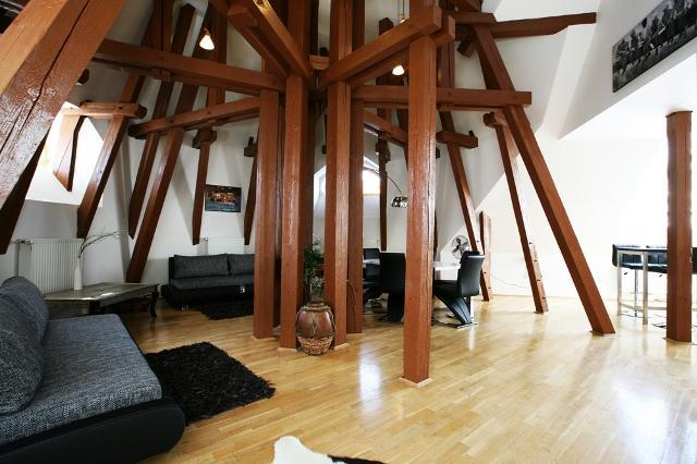 Living room - Attic Kozi - Old Town Square - Prague - Attic Kozi - Superior three bedroom apartment - Prague - rentals