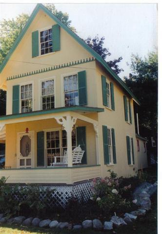 FRONT OF COTTAGE - Charming Gingerbread Victorian Cottage By The Sea - Northport - rentals