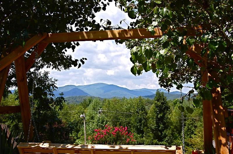 View from the outside - Rich Mtn Bungalow - Blue Ridge - rentals