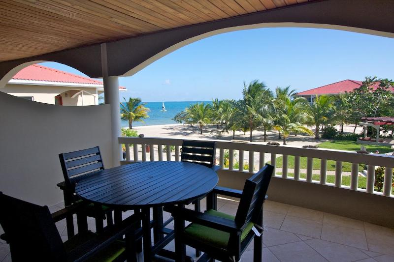 Enjoy the breathtaking view of the Carribean from your balcony. - Spacious Seaview Luxury Condo in Placencia, Belize - Placencia - rentals