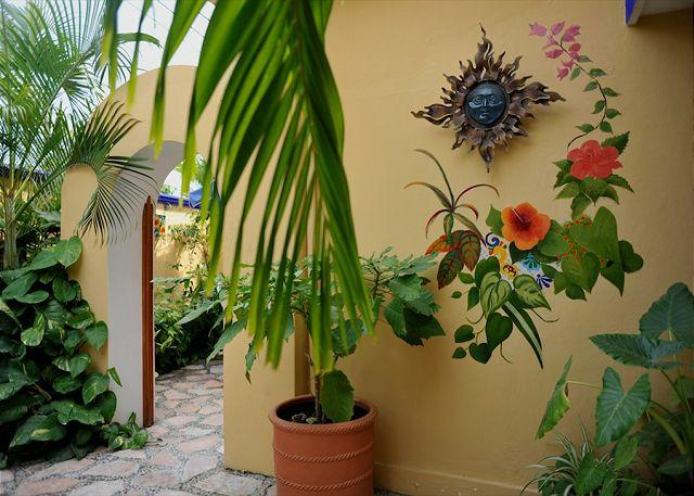 A2#5 entrance - Modern, comfortable well appointed, large studio w king and kitchen - Puerto Morelos - rentals