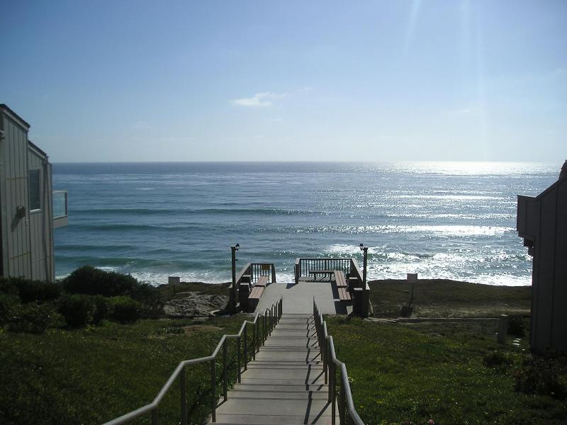"Stairs to our ""private beach"" - Ocean Front Condo Complex-Partial View Hear Waves! - Schurz - rentals"