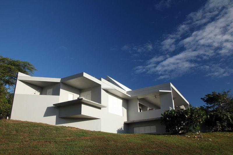 from yard - Casa Angular- 2BR villa with ocean view on Vieques - Isla de Vieques - rentals