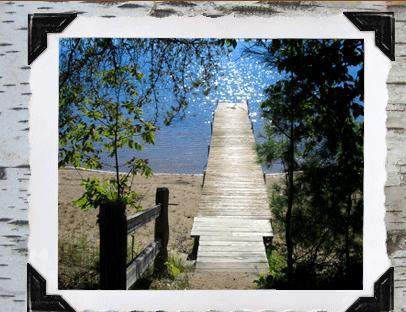 Dock steps from cabin door - A True Lakefront Log Cabin Experience! - Rhinelander - rentals
