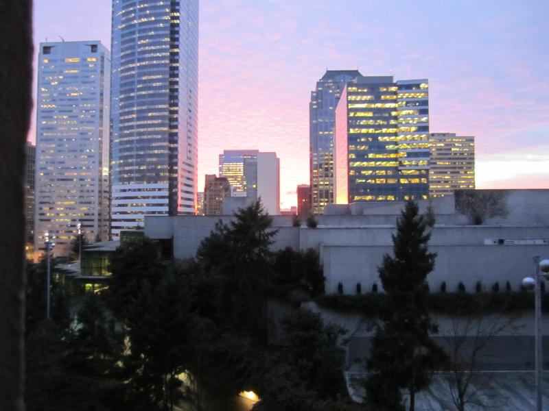 Sunset from the kitchen - The Nest in the Heart of the City - Seattle - rentals