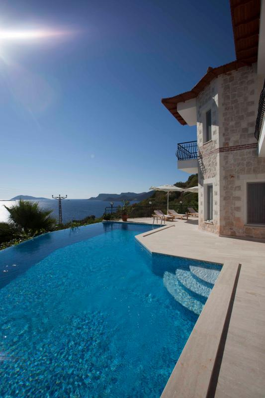 Pool, Sea, Terrace - Villa Jiok-Private Pool-Seaview-200 m from coast - Kas - rentals