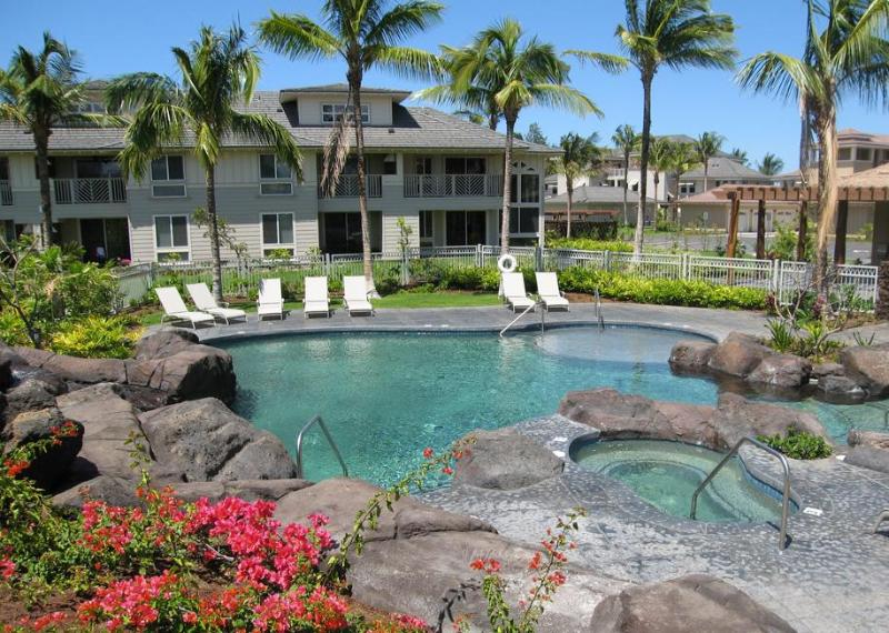 Take a dip in either of the inviting pools or relax in the hot tubs - Waikoloa Beach Penthouse- A Vacation to Remember! - Waikoloa - rentals
