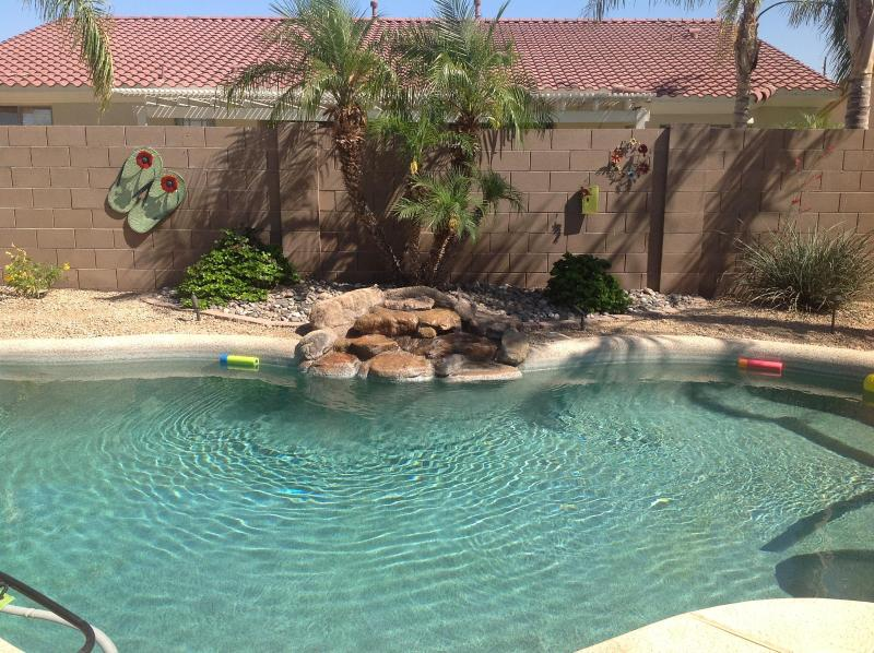 Waterfall By Pool - 3000 Sqr ft  Private Pool  Home, in Palm Valley - Goodyear - rentals
