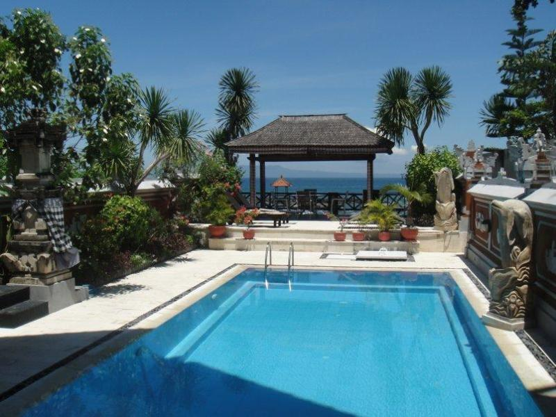 The Swimming Pool - Villa Rindik - Ocean Front, In Town, Private Pool - Candidasa - rentals
