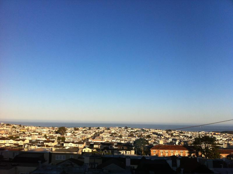 Morning view from both bedrooms of Pacific Ocean. - Beautiful, Quiet Home, Ocean Views,  Easy Parking! - San Francisco - rentals