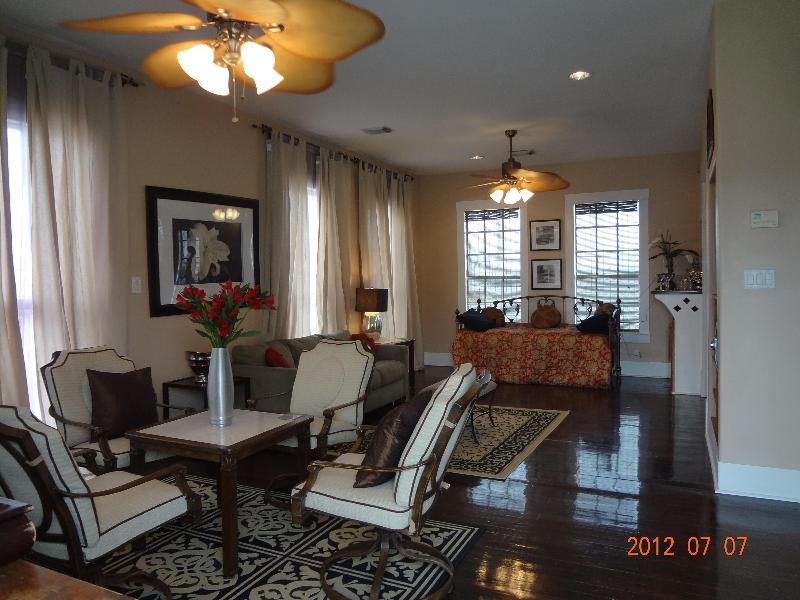 Living Room/Entertaining Area From the Front Door - The Castle, Galveston, Texas - Galveston - rentals