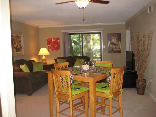 Living area - SURFS UP!  Hear the surf from our 1st floor condo - Fernandina Beach - rentals