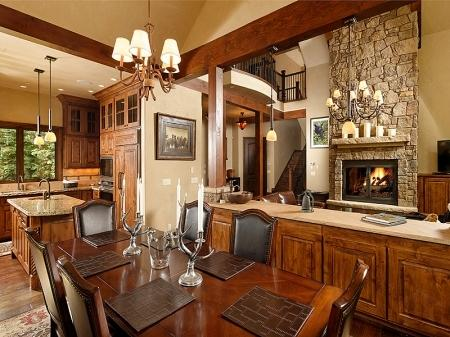Dining, Kitchen & Living Rooms - Beautiful New Luxury Home Close to Town - Aspen - rentals
