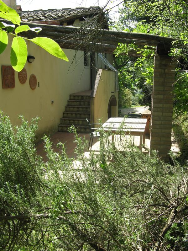 Private patio - Tuscany Travel Base just outside Florence - Montespertoli - rentals
