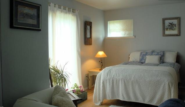 Your bedroom with double bed, sofa,sliding glass doorsl - HAMPTONS SUMMER GETAWAY  Bedrm+Bath Suite - Bridgehampton - rentals