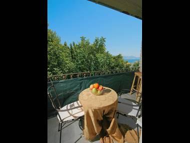 A3(4+1): terrace view - 5683  A3(4+1) - Arbanija - Arbanija - rentals