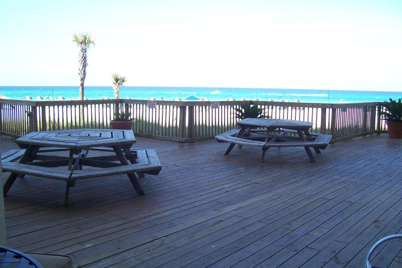 View from Condo - Ground Floor Condo Just Steps Away from Beach - Panama City Beach - rentals