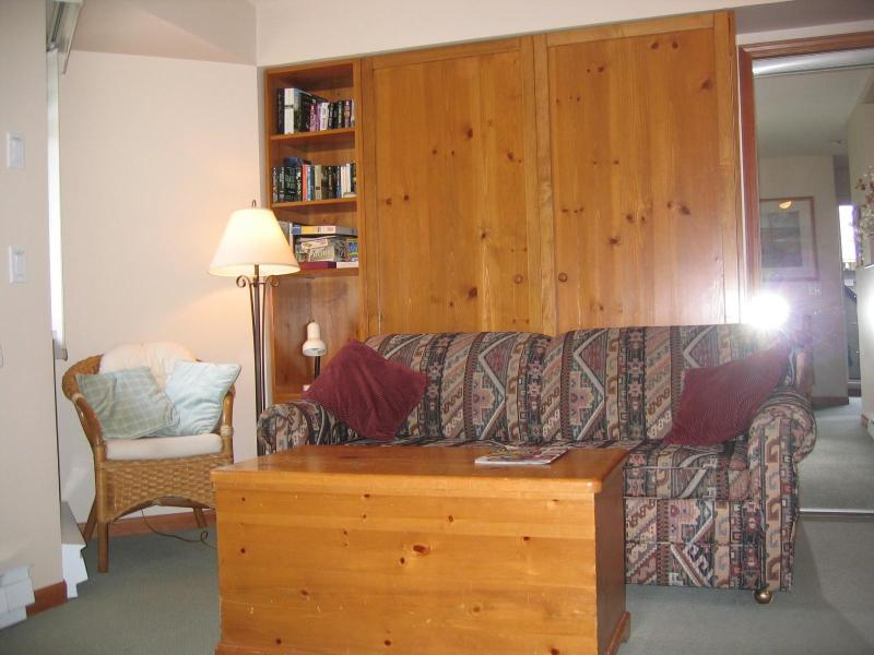 Living room with murphy bed - Lagoons 37 pet-friendly studio in Whistler - Whistler - rentals