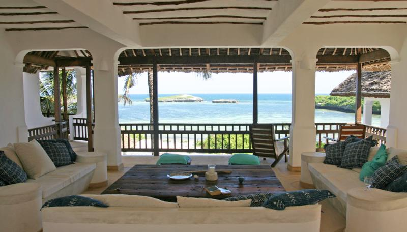 Comfortable Living area looks out towards Blue Bay - Bahari House - Stunning House overlooking Blue Bay - Watamu - rentals