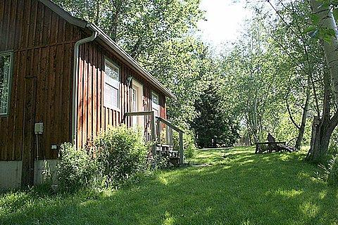 Front of cabin from lower lawn area - Deep Creek Guest Cabin - Livingston - rentals