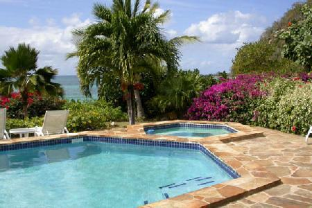 Waterfront Beach Dreams- pool- jacuzzi, tropical gardens & snorkeling - Image 1 - Mahoe Bay - rentals