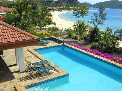 Beachfront Pelican Reef- with pool, tropical gardens & central location - Image 1 - Mahoe Bay - rentals