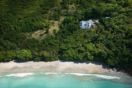 Refuge - Private beachfront villa features sea views, pool & tropical landscape - Image 1 - Tortola - rentals