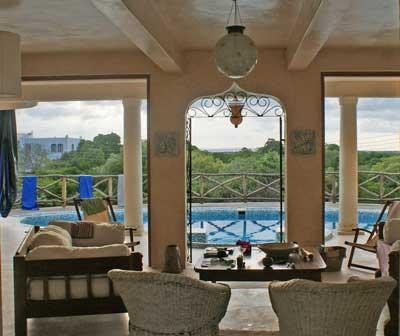 View from Living area across pool towards Mida Creek - The Boardwalk - Lovely 5 Bed Creek-Front Home - Watamu - rentals