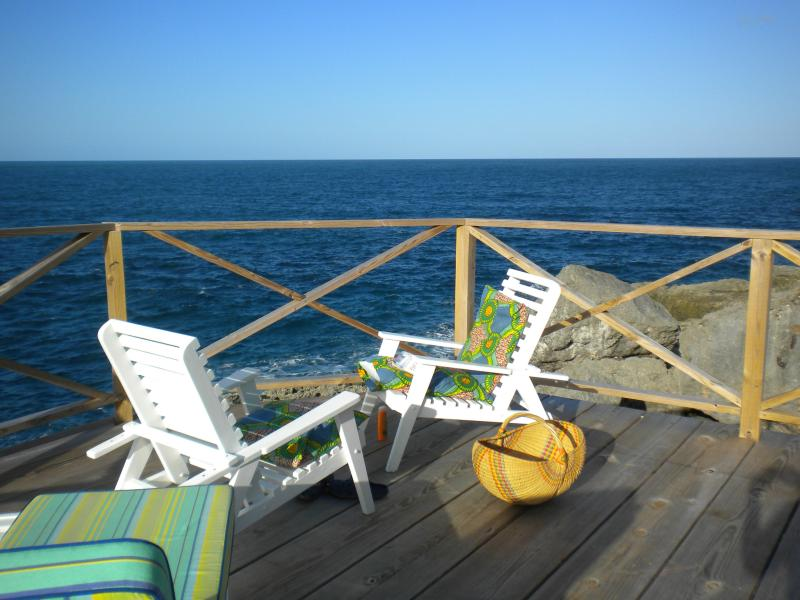The Patio Deck on the Property - Real Jamaica - Cosy Waterfront Cottage - Oracabessa - rentals