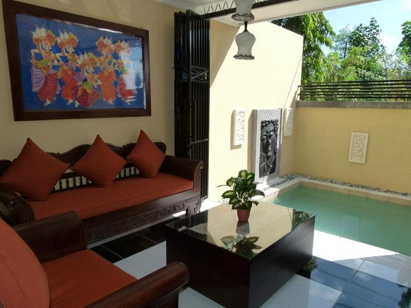 Lounge seating overlooking private pool - FANTASTIC LONG / SHORT STAY Pool Villa, not shared - Jimbaran - rentals