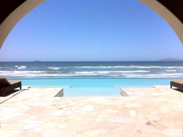 Entrance to Infinity Pool & Ocean View - Stunning Oceanfront Condo in Rosarito Beach - Rosarito - rentals